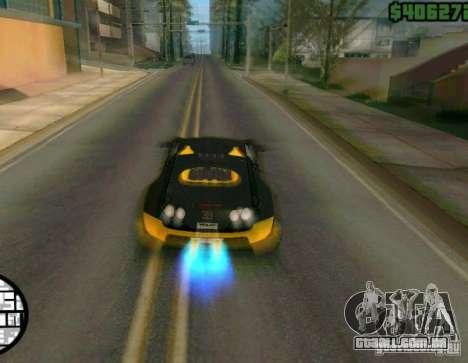 Bugatti Veyron Super Sport final para GTA San Andreas vista traseira