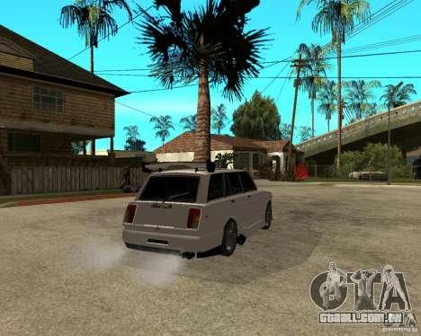 VAZ 2104 difícil afinação para GTA San Andreas traseira esquerda vista