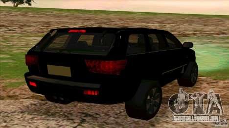 Dodge Durango 2012 para GTA San Andreas traseira esquerda vista