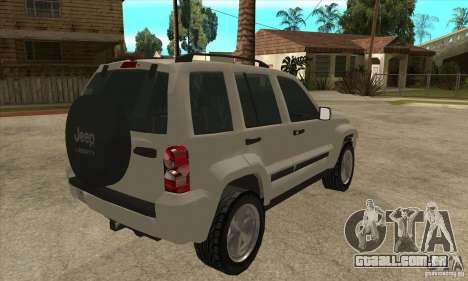 Jeep Liberty 2007 Final para GTA San Andreas vista direita