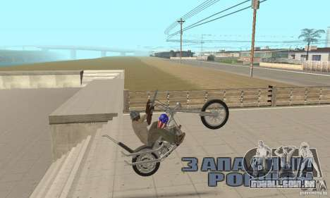 Captain America Chopper para GTA San Andreas vista direita