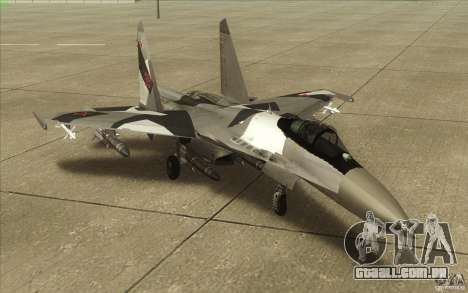 Su-35 BM v 2.0 para GTA San Andreas esquerda vista