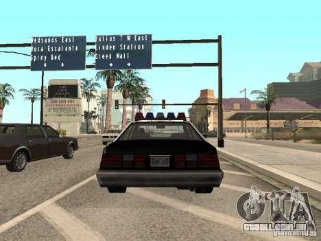 LVPD Police Car para GTA San Andreas traseira esquerda vista