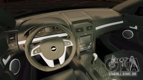 Chevrolet Lumina 2009 Mr. Bolleck Edition para GTA 4 vista interior