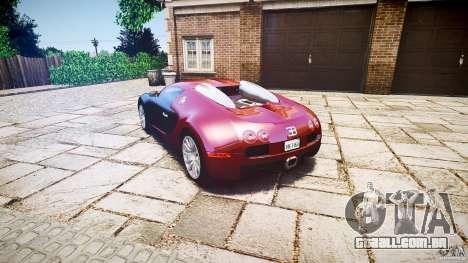 Bugatti Veyron 16.4 v3.0 2005 [EPM] Machiavelli para GTA 4 traseira esquerda vista