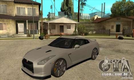 Nissan GT-R R35 2008 para GTA San Andreas