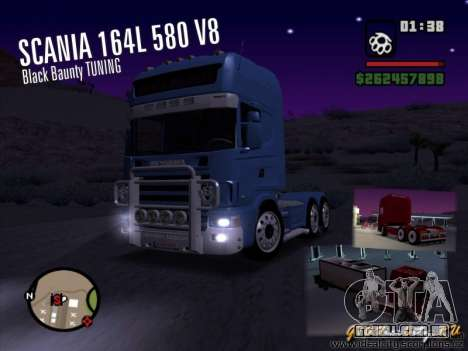 Scania 164L 580 V8 Black Beaunty para GTA San Andreas