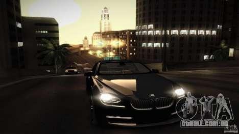 BMW 640i Coupe para GTA San Andreas vista inferior