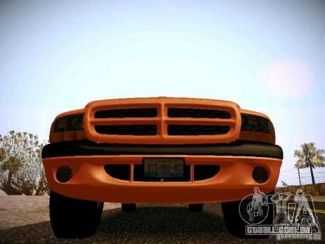 Dodge Ram 1500 Dacota para GTA San Andreas vista interior