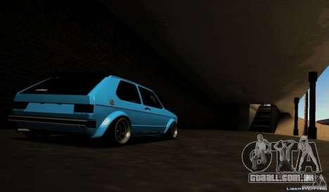 Volkswagen Golf Mk1 Euro para GTA San Andreas vista direita