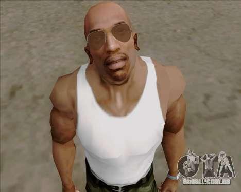Óculos marrom aviadores para GTA San Andreas por diante tela