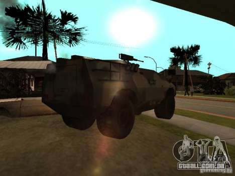 S. w. r. T de Counter Strike Source para GTA San Andreas traseira esquerda vista