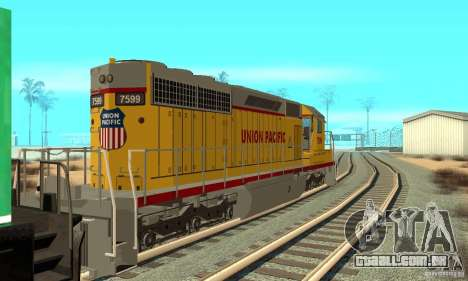 Locomotiva SD 40 Union Pacific para GTA San Andreas