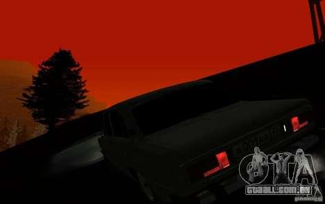 VAZ 2106 Tyumen para GTA San Andreas vista interior