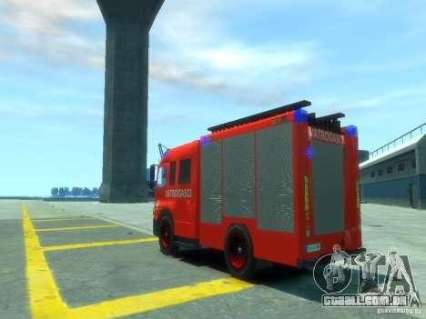 Mercedes-Benz Atego Fire Departament para GTA 4 traseira esquerda vista