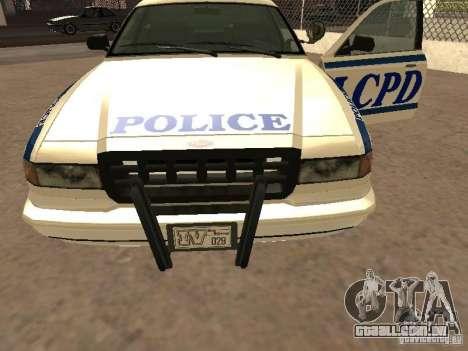 A polícia de GTA4 para vista lateral GTA San Andreas