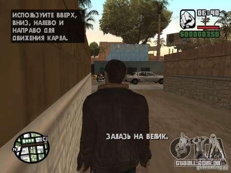 Niko Bellic para GTA San Andreas por diante tela