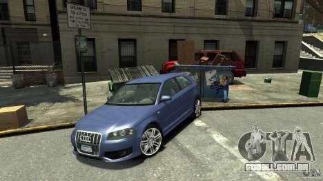 Audi S3 2006 v 1.1 não é tonirovanaâ para GTA 4 traseira esquerda vista