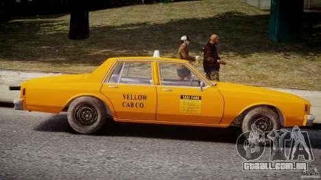 Chevrolet Impala Taxi v2.0 para GTA 4 vista lateral