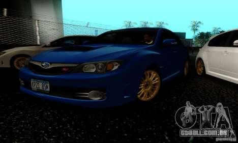2008 Subaru Impreza Tuneable para GTA San Andreas esquerda vista