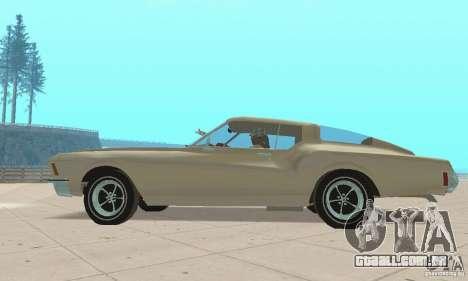 Buick Riviera 1972 Boattail para GTA San Andreas traseira esquerda vista