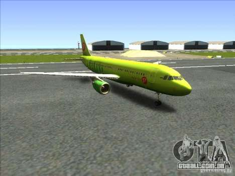 Airbus A-320 S7Airlines para GTA San Andreas traseira esquerda vista
