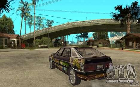 Citroen XM Custom para GTA San Andreas traseira esquerda vista