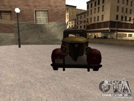 Shubert táxi de MAFIA 2 para GTA San Andreas vista traseira