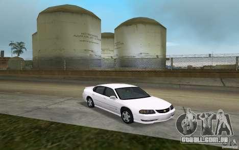 Chevrolet Impala SS 2003 para GTA Vice City vista traseira