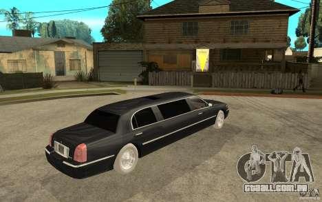 Lincoln Towncar limo 2003 para GTA San Andreas vista direita