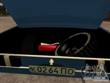 Moskvich 412-4 x 4 para GTA San Andreas vista interior