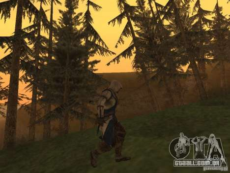 Connor From ACIII para GTA San Andreas terceira tela