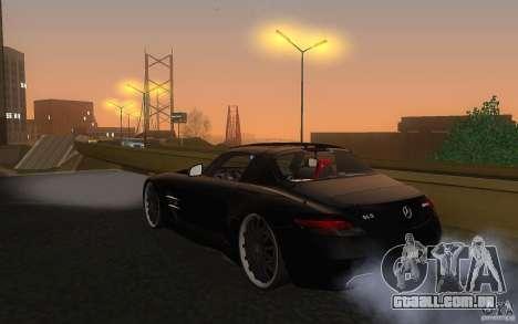 Mercedes Benz SLS HAMANN para GTA San Andreas traseira esquerda vista