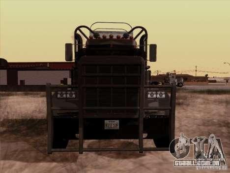 Peterbilt 359 Day Cab para GTA San Andreas esquerda vista