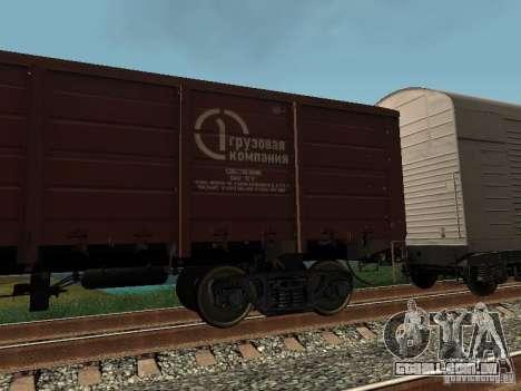 Empresa de carga do vagão aberto para GTA San Andreas esquerda vista