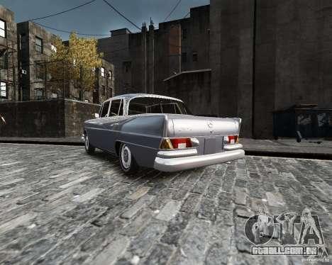 Mercedes-Benz W111 para GTA 4 esquerda vista