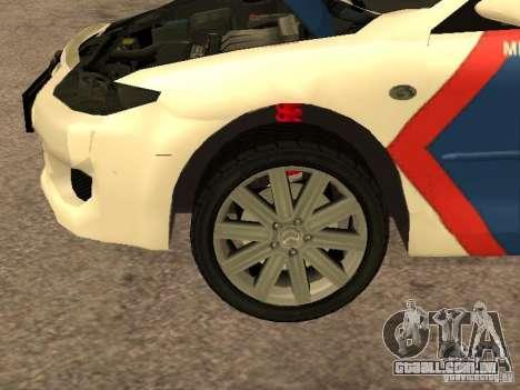 Mazda 6 Police Indonesia para GTA San Andreas vista interior