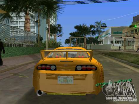 Toyota Supra para GTA Vice City deixou vista