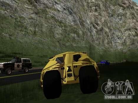 Army Tumbler v2.0 para GTA San Andreas vista interior