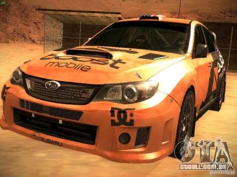 Subaru Impreza Gravel Rally para o motor de GTA San Andreas