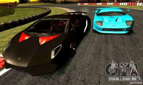 Lamborghini Sesto Elemento para GTA San Andreas vista traseira