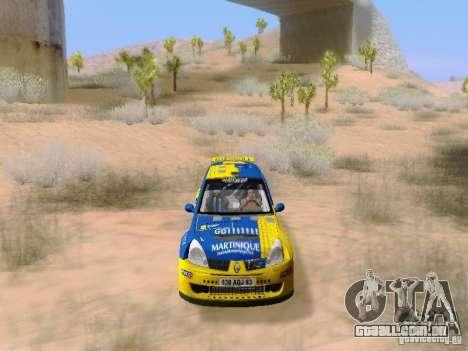 Renault Clio Super 1600 para vista lateral GTA San Andreas