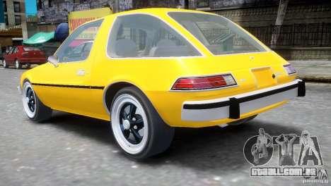 AMC Pacer 1977 v1.0 para GTA 4 traseira esquerda vista