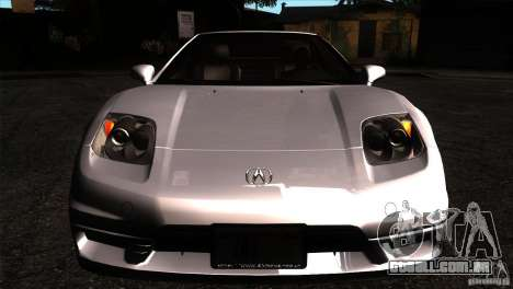 Acura NSX Stock para GTA San Andreas vista interior