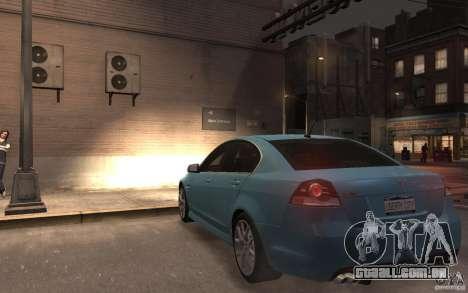 Pontiac G8 GXP para GTA 4 traseira esquerda vista