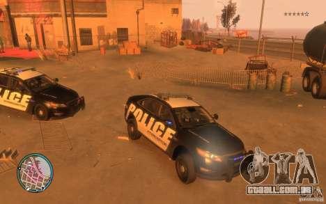 Ford Taurus Police para GTA 4 esquerda vista