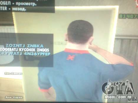 CJ com fome para GTA San Andreas terceira tela