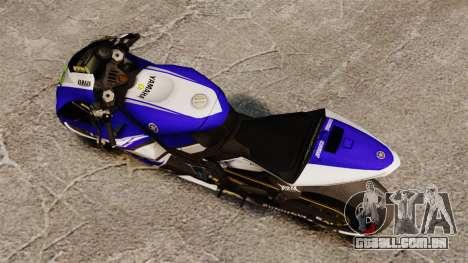 Yamaha YZR-M1 para GTA 4 traseira esquerda vista