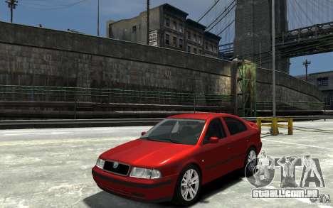 Skoda Octavia v.1.0 para GTA 4 vista de volta