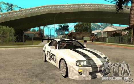 Toyota Supra MK-4 para GTA San Andreas vista traseira